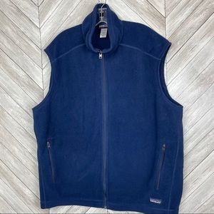 Patagonia Fleece Vest Outdoor Camping Hiking Blue